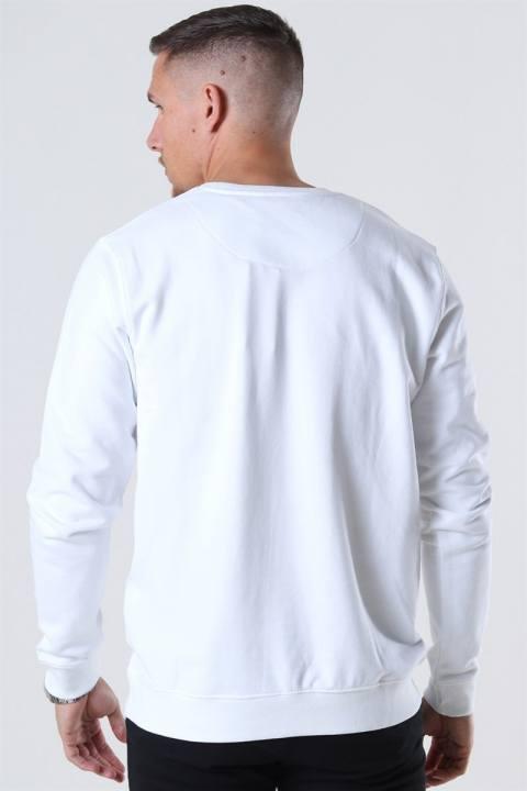 Clean Cut Basic Organic Crewneck White