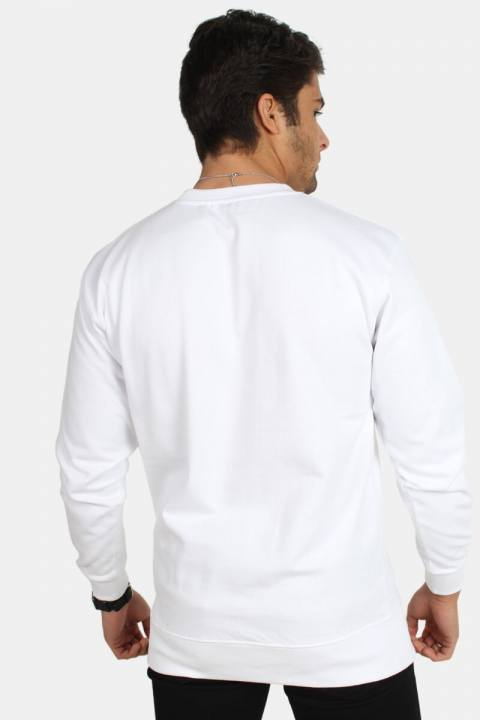 Basic Brand Crewneck Hvid