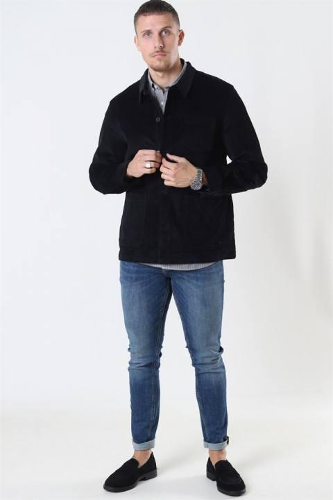 Clean Cut Steve Overshirt Black