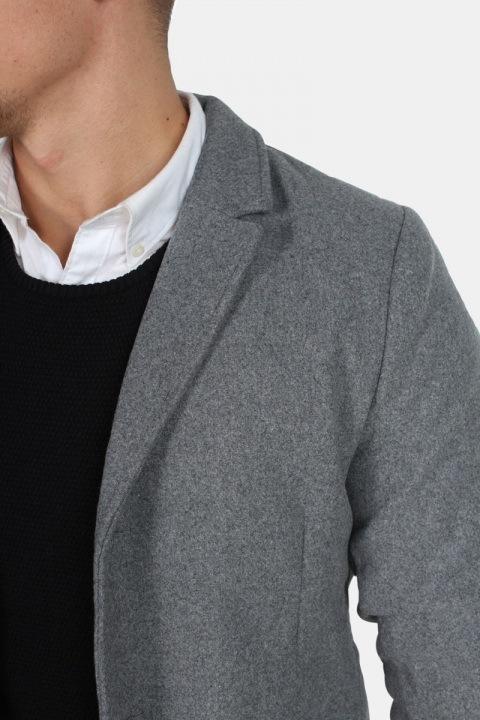 Only & Sons Julian Uldfrakke Medium Grey Mell