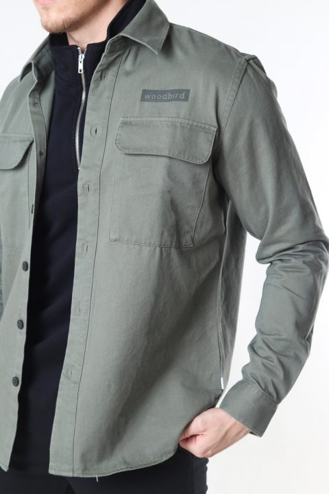 Woodbird Hoxen Work Overshirt Green