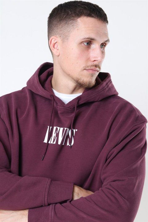 Levis Relaxed Graphic Hoodie Bordeaux