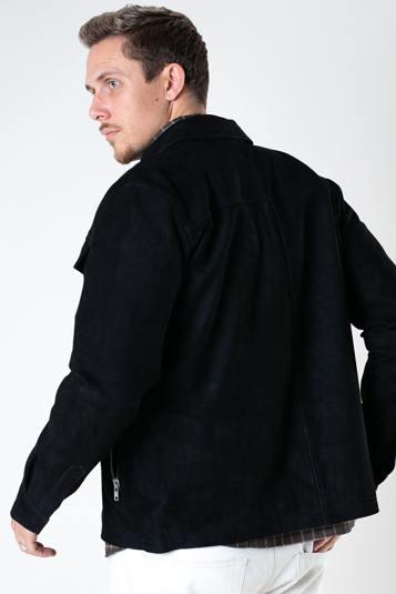 Clean Cut Copenhagen Carl Suede Jacket Black