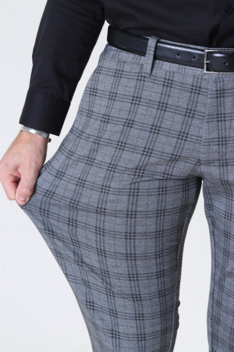 Only & Sons Mark Tap Check Pants GW 8098 Medium Grey Melange