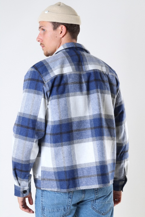 Gabba Clipper Big Blue Check LS Shirt Navy Check