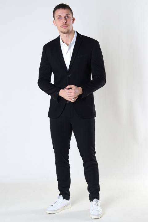 Jack & Jones JJEPHIL JERSEY BLAZER Black SUPER SLIM FIT