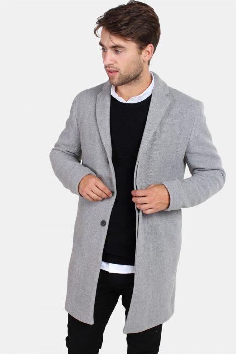 Køb Selected Brove Uld Frakke Medium Grey