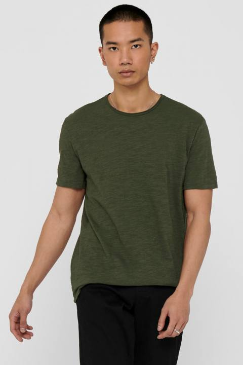 ONLY & SONS ONSALBERT LIFE NEW SS TEE Forest Night