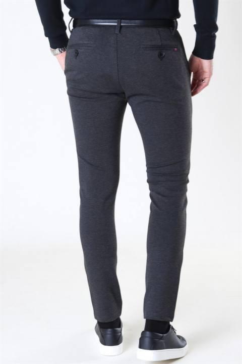 Denim Project Ponte Romas Plain Pants Dark Grey Melange