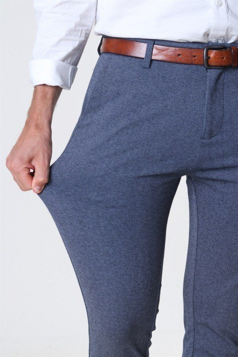 Clean Cut Prato Jersey Pants Denim Melange