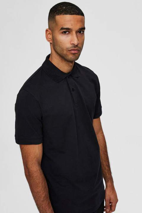 Selected SLHNEO SS POLO S NOOS Black
