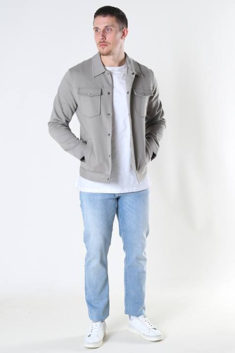 Jack & Jones JPRBLADEXTER SWEAT TRUCKER JACKET Elephant Skin SLIM FIT