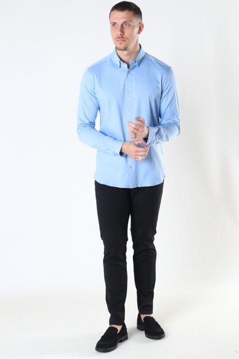 Mos Mosh Gallery Marco Crunch Jersey Shirt Bel Air Blue