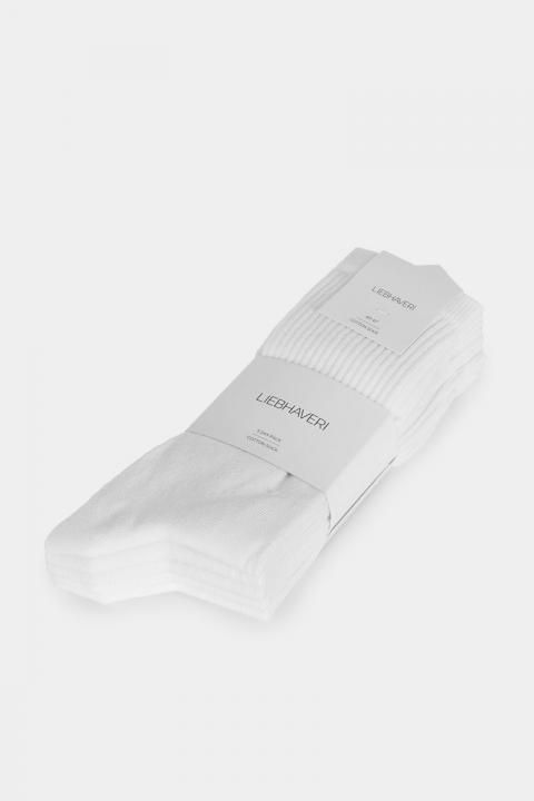 Liebhaveri Tennisstrømpe 5-pack Hvid
