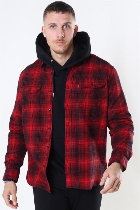 Køb Levis Jackson Worker Skjorte Ametrine Molten Lava