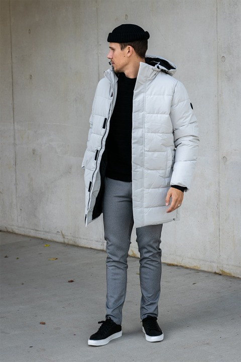 ONLY & SONS ONSCARL LONG QUILTED COAT OTW Vapor Blue