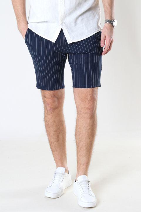 Denim project Ponte Shorts 134 Dark navy white pin