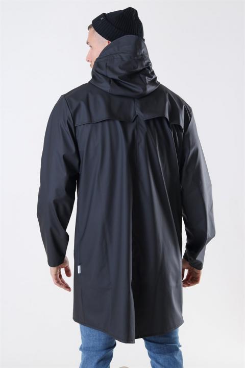 Rains Long Regnfrakke Black
