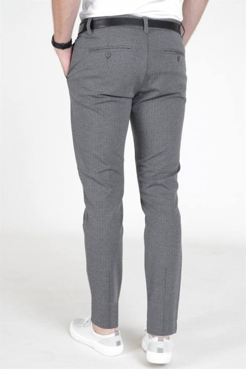 Only & Sons Mark Pants Stripe Medium Grey Melange
