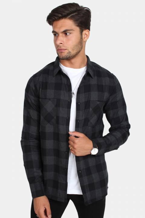 Urban Classics Tb297 Skjorte Black/Charcoal