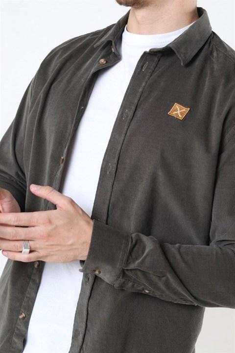Clean Cut Corduroy Skjorte L/S Army