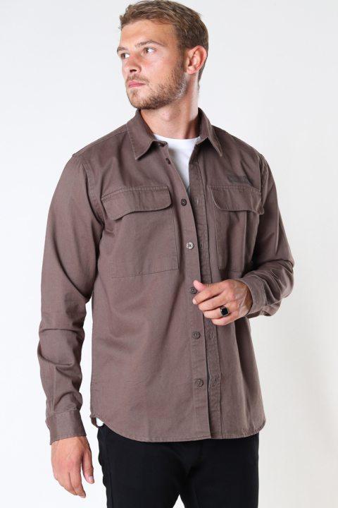 Woodbird Hoxen Work Shirt Brown