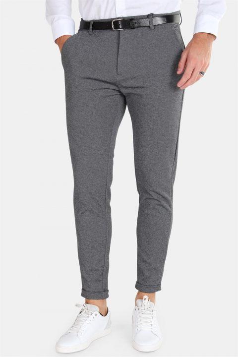 Clean Cut Prato Jersey Pants Dark Grey Mix