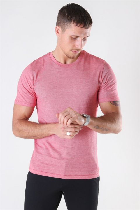 Selected The Perfect Mel SS O-Neck T-shirt Goij Berry/Bright White