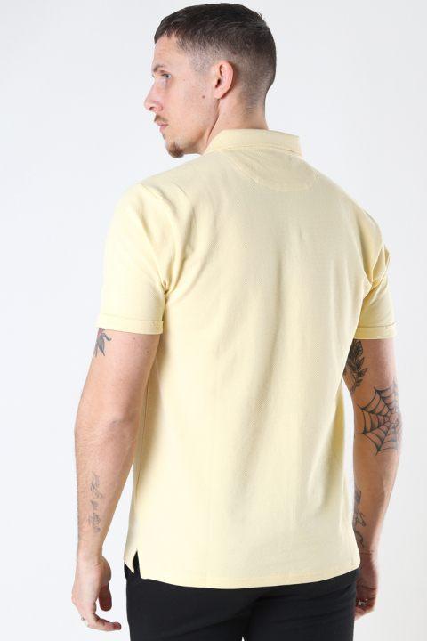 Clean Cut Copenhagen Silkeborg Stretch Polo Pastel Yellow
