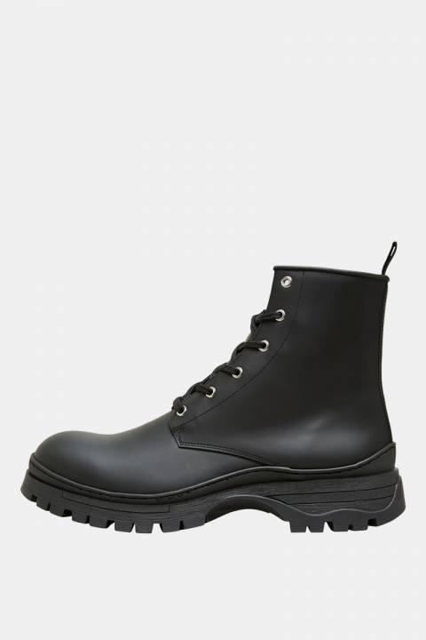 Køb Selected SLHBRODY MATT LEATHER BOOT Black