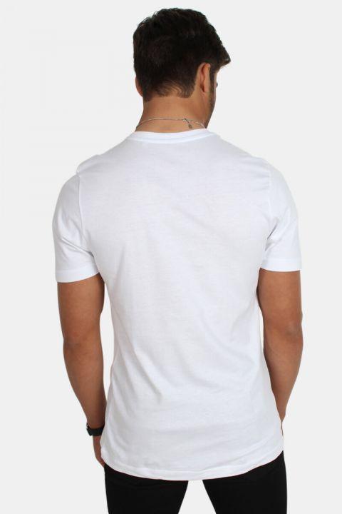 Basic Brand Uni Fashion V T-shirt Hvid