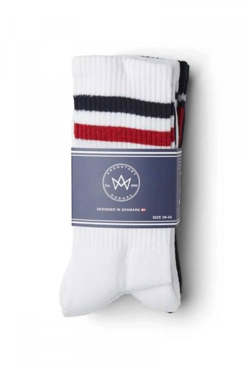 Image of Kronstadt Nad 4-pack socks White/Navy/Red (125000000813-39_-_42)