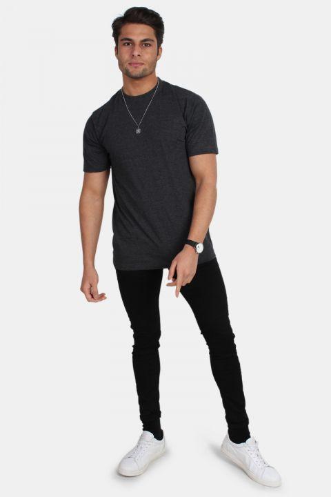 Basic Brand Oversize T-shirt Antracit