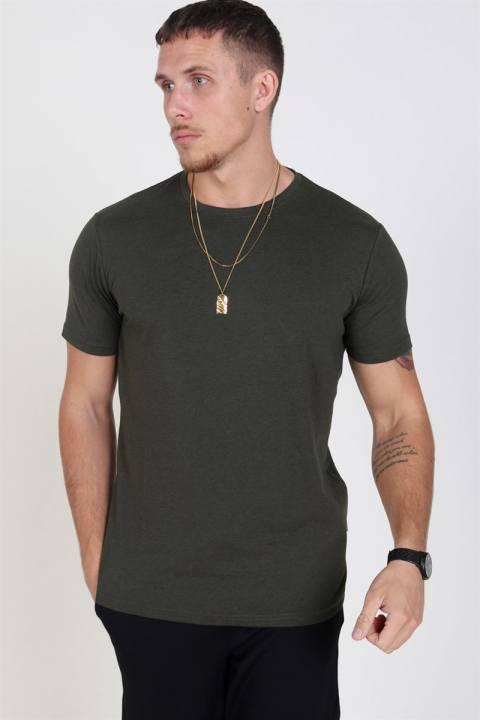 Solid Rock S/S Organic T-shirt Ivy Green Melange