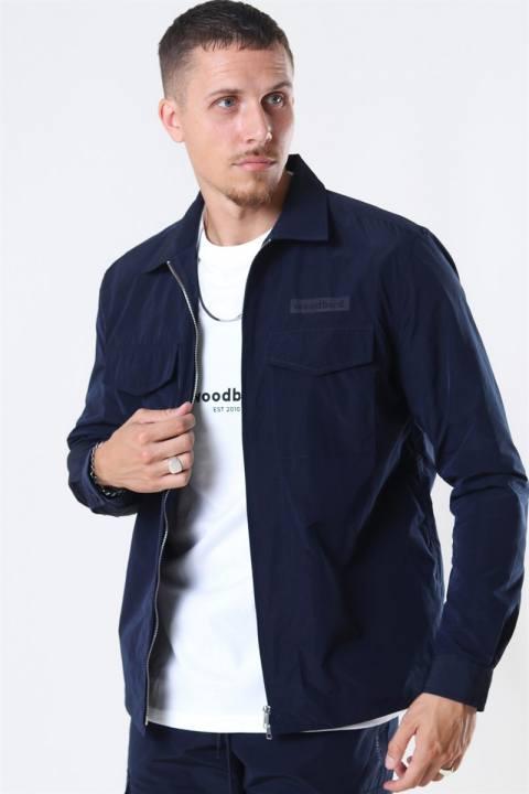 WoodBird Klarc Zip Skjorte Navy
