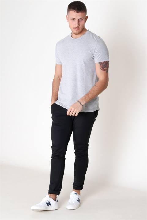 Gabba Konrad Slub S/S T-shirt Light Grey Melange