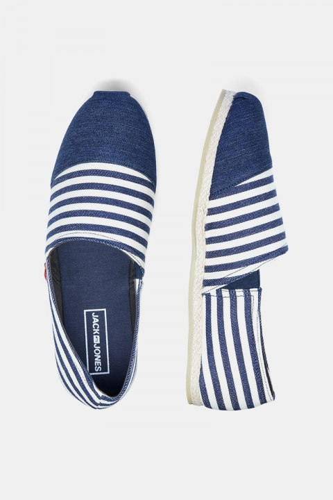 Jack & Jones Espadrille Canvas Stripe Navy Blazer
