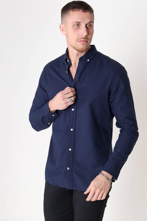 Jack & Jones Summer Skjorte L/S Navy Blazer