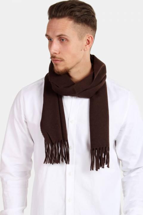 Mjm Bologna Lambswoll Halstørklæde Brown