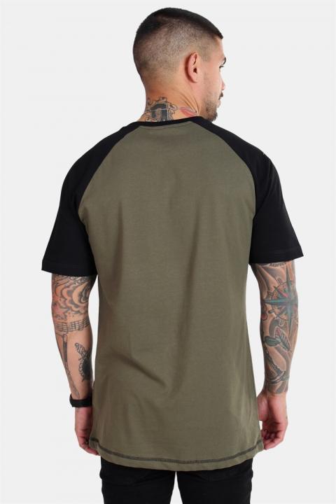 Basic Brand Raglan T-shirt New Army/Black