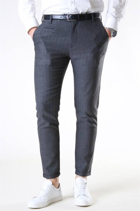 Les Deux Malus Suit Pants Grey Melange