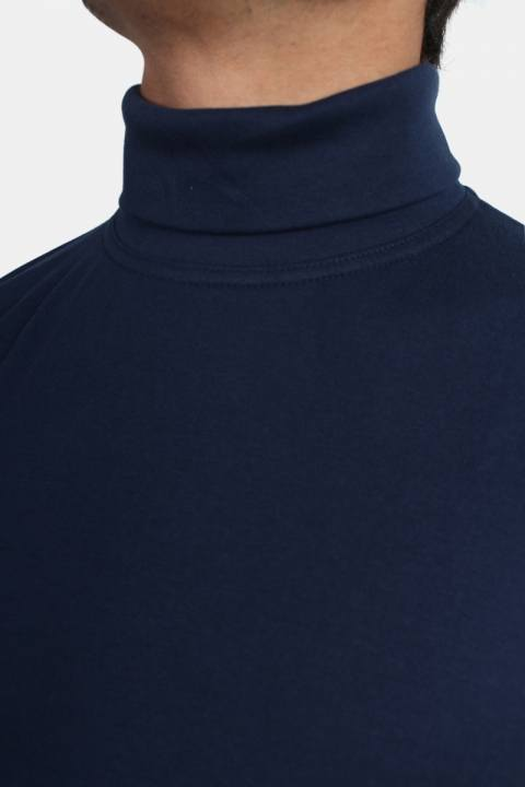 Basic Brand Turtleneck Blue Navy