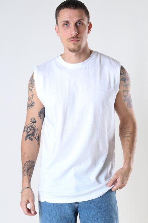 Denim project DP No Sleeve Tee 002 White