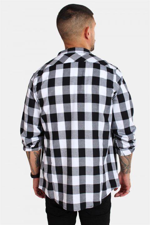 URBAN CLASSICS Checked Flanell Shirt Black/White