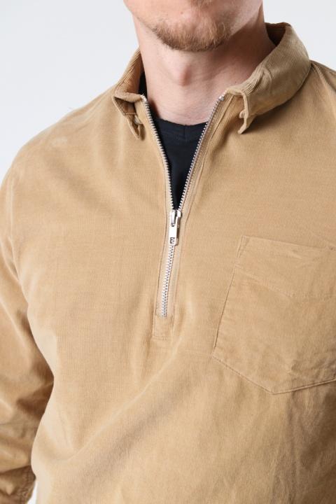 Kronstadt Johan Baby Corduroy half zip shirt Sand