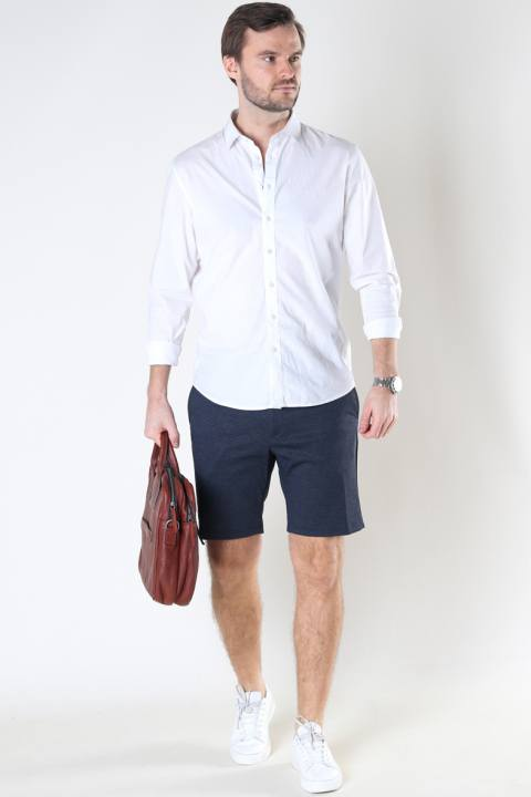 Jack & Jones JJIPHIL CHINO SHORTS NOR STS Navy Blazer HERRINGBONE