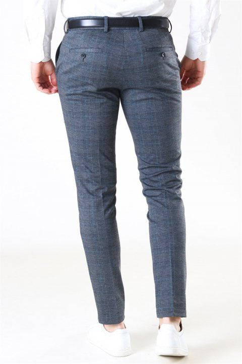 Jack & Jones Marco Phil Jersey Nor Check Pants Dark Grey