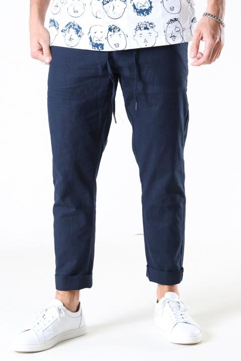 Clean Cut Copenhagen Barcelona Cotton / Linnen Pants Navy