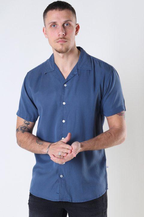 Kronstadt Cuba Tencel s/s shirt Blue