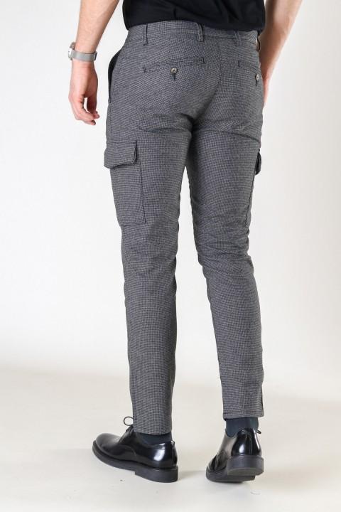 Tailored & Originals Oisin Cargo Pants Medium Grey Melange